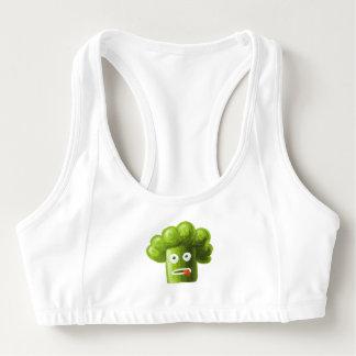 Funny Cartoon Broccoli Sports Bra