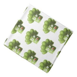 Funny Cartoon Broccoli Vegetarian Pattern Head Kerchief