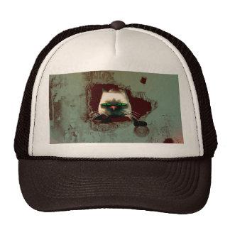 Funny cartoon cat cap
