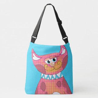 Funny Cartoon Cat Cross Body Bag Tote Bag