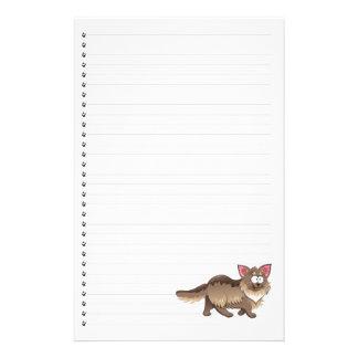 Funny Cartoon Cat  Lined Pet Stationery