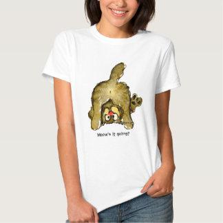 Funny Cartoon Cat Meow's it Going? Tshirt