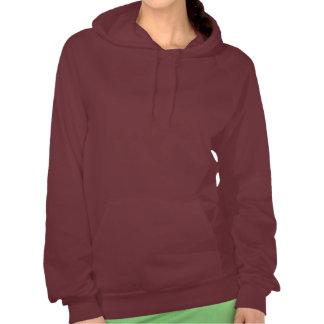 Funny cartoon chestnut saddleseat horse hoodie