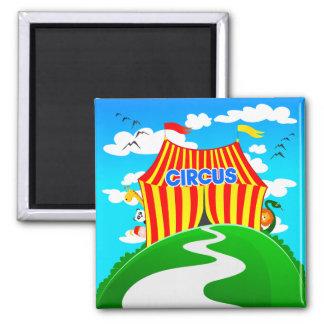 Funny cartoon circus, magnet