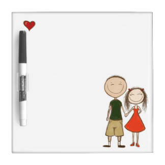 Funny cartoon couple sketch Dry-Erase whiteboard