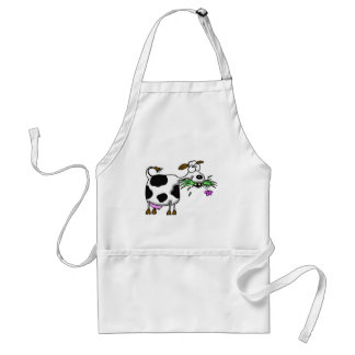 Funny cartoon cow gifts and accessories mad cow standard apron
