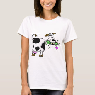 Funny cartoon cow gifts and accessories mad cow T-Shirt