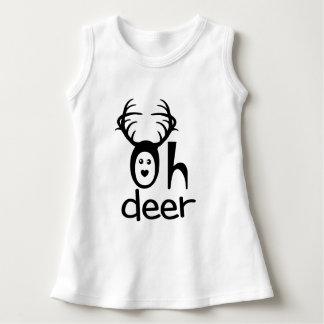 Funny Cartoon Deer - Xmas Baby Clothing Dress