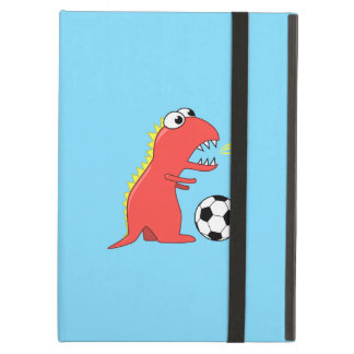 Funny Cartoon Dinosaur Playing Soccer Kickstand Cover For iPad Air
