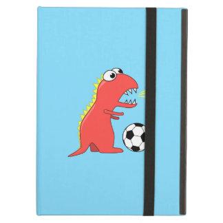Funny Cartoon Dinosaur Playing Soccer Kickstand Cover For iPad Air