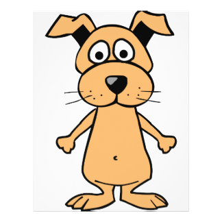 Funny cartoon dog 21.5 cm x 28 cm flyer