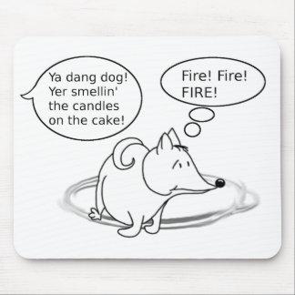 Funny Cartoon Dog Birthday Mouse Pad