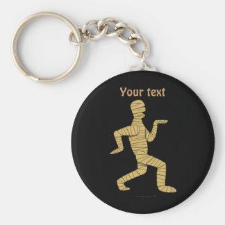 Funny Cartoon Egyptian Mummy Pyramids Custom Basic Round Button Key Ring