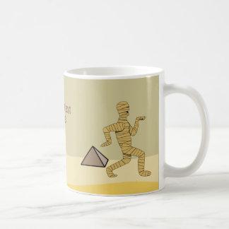 Funny Cartoon Egyptian Mummy Pyramids Custom Coffee Mug