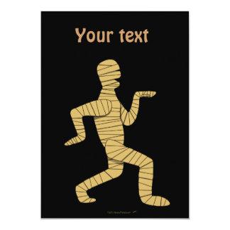 """Funny Cartoon Egyptian Mummy Pyramids Custom 5"""" X 7"""" Invitation Card"""