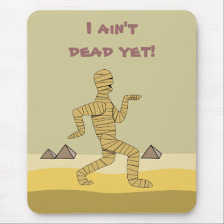 Funny Cartoon Egyptian Mummy Pyramids Custom Mouse Mat