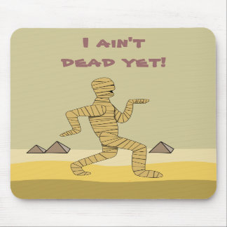 Funny Cartoon Egyptian Mummy Pyramids Custom Mousepads