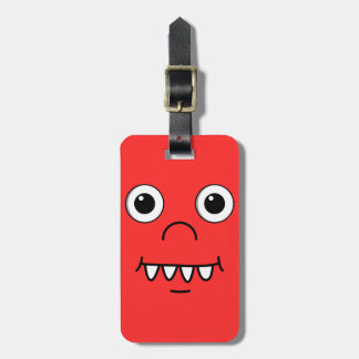 Funny Cartoon face Luggage Tag