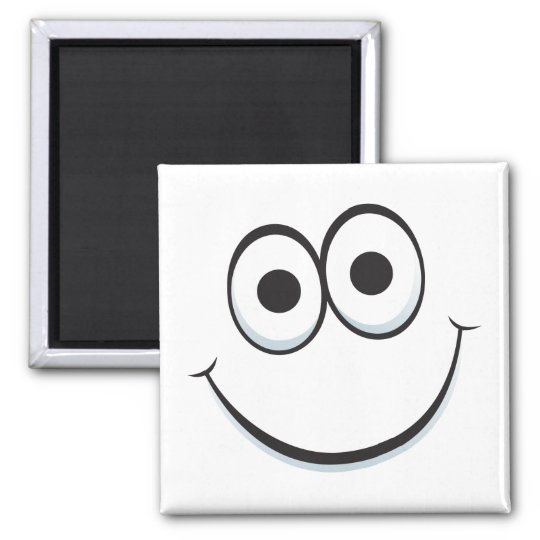 Funny cartoon face magnet