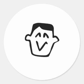Funny Cartoon Face Sticker