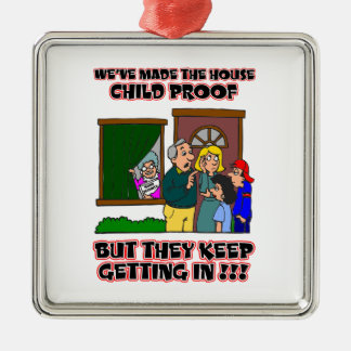 Funny Cartoon - Families & Children Who Come Home Christmas Ornament
