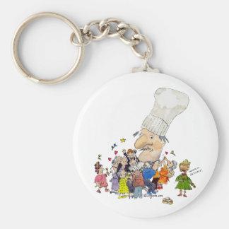 Funny Cartoon French Chef Key Chain