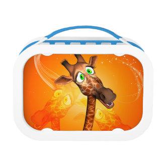 Funny cartoon giraffe lunch box