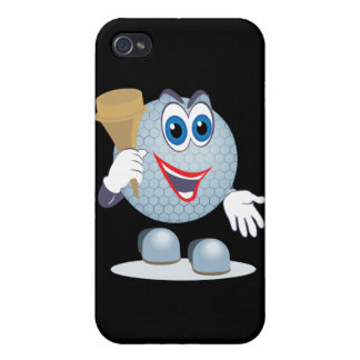 funny cartoon golf ball character covers for iPhone 4