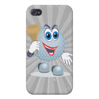 funny cartoon golf ball character iPhone 4 cases