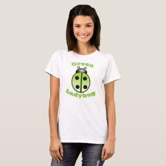 Funny Cartoon Green Ladybug Women's T-Shirt