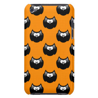 funny cartoon halloween owl over yellow backgroud Case-Mate iPod touch case