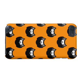 funny cartoon halloween owl over yellow backgroud iPod touch (5th generation) cover