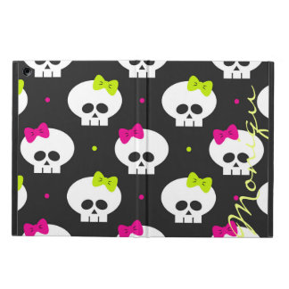 funny cartoon halloween skulls with name case for iPad air