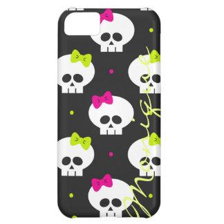 funny cartoon halloween skulls with name iPhone 5C case