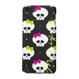 funny cartoon halloween skulls with name iPod touch 5G cases