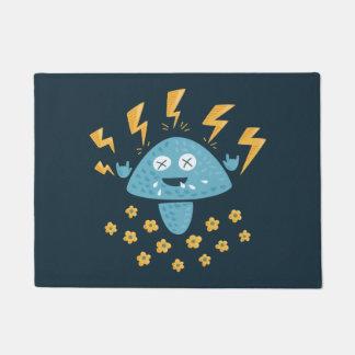 Funny Cartoon Heavy Metal Mushroom Doormat