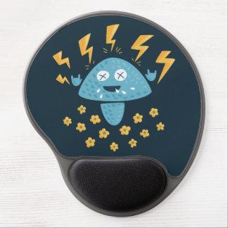 Funny Cartoon Heavy Metal Mushroom Gel Mouse Pad