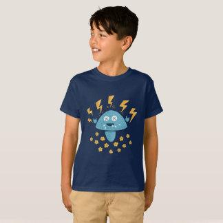 Funny Cartoon Heavy Metal Mushroom Kids T-Shirt