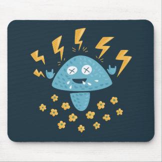 Funny Cartoon Heavy Metal Mushroom Mouse Mat