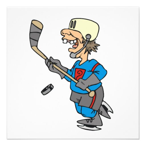 Funny Cartoon Hockey Player T-shirts and Gifts Custom Announcement