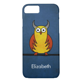 Funny Cartoon Horned Owl Name iPhone 8/7 Case