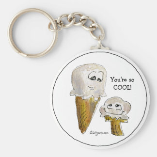 Funny Cartoon Ice Cream Cones Keychain