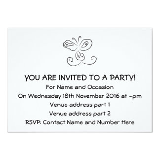 Funny Cartoon Insect Face 11 Cm X 16 Cm Invitation Card