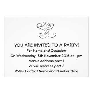 Funny Cartoon Insect Face Personalized Invite