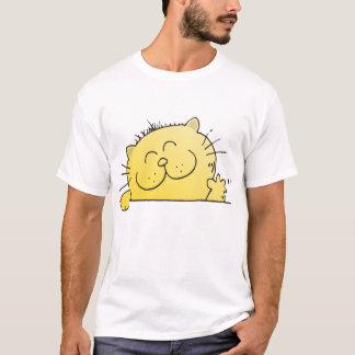 Funny Cartoon Kitty Hello T-Shirt