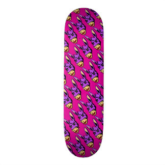 Funny Cartoon lipstick donkey pink Skateboard