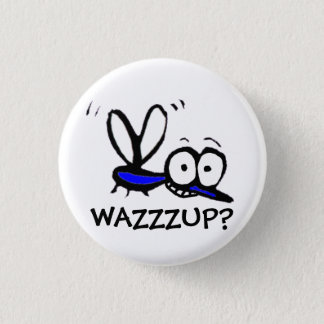 funny cartoon mosquito 3 cm round badge
