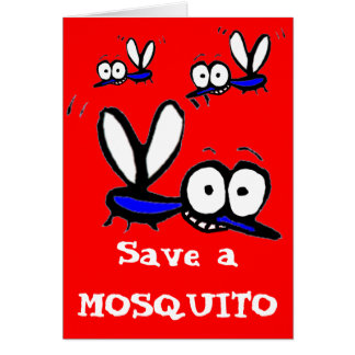 funny cartoon mosquito card