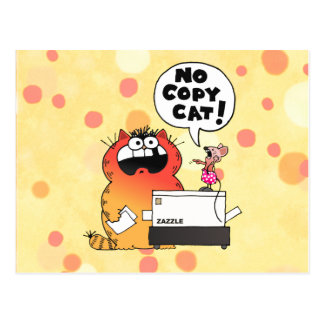 Funny Cartoon Mouse | Funny Mouse and Cat Postcard