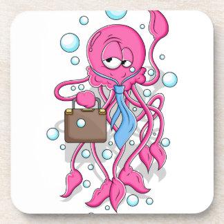 Funny Cartoon Octopus Coaster